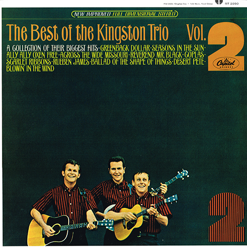 The Kingston Trio - The Best Of Volume II [Capitol ST-2280] (1965)