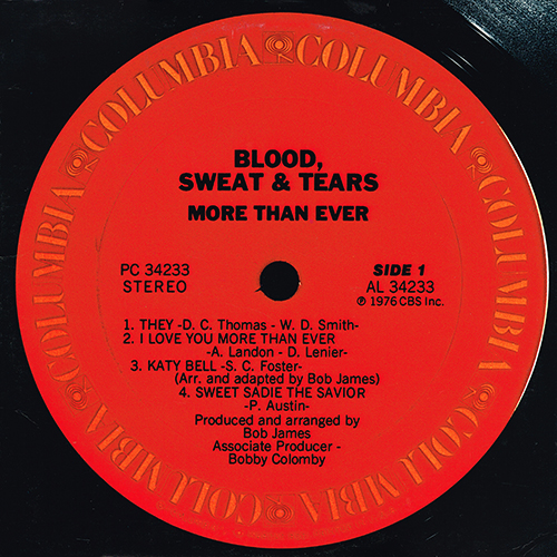 Blood, Sweat & Tears - More Than Ever [Columbia PC 34233] (1976)