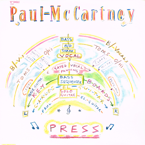 Paul McCartney - Press [12''] [Capitol V-15235] (14 July 1986)