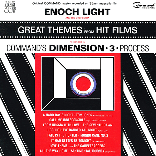 Enoch Light - Great Themes From Hit Films (Command RS 871 SD) (1964)
